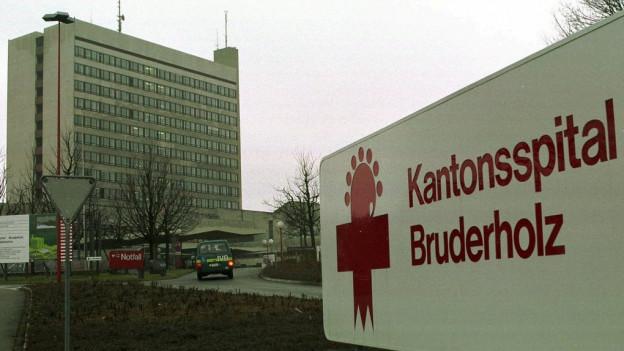 Blick auf das Bruderholzspital