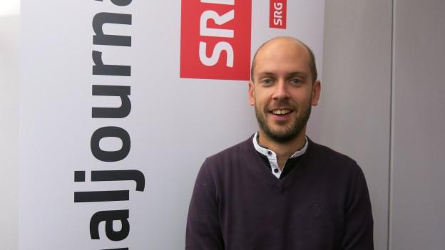 Joel Thüring, Parteisekretär der SVP Basel-Stadt.