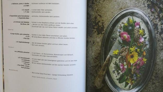 Geissen-Herz angerichtet mit Blumen