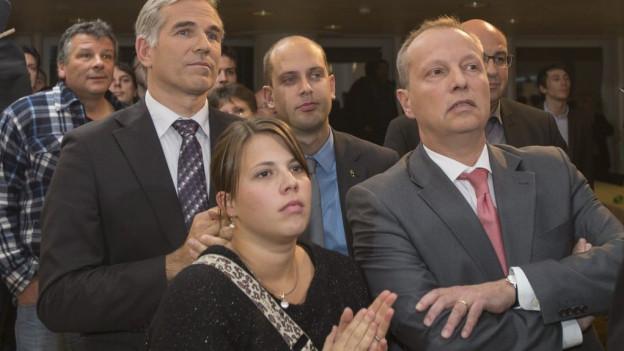 Enttäuschte SVP-Mitglieder nach dem 1. Wahlgang