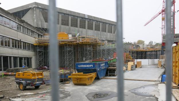 Die Swiss Indoors während der Bauarbeiten