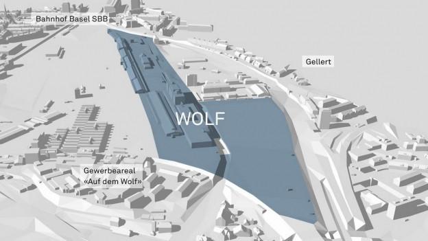 Grosse Pläne für das Areal des Güterbahnhofs Wolf.