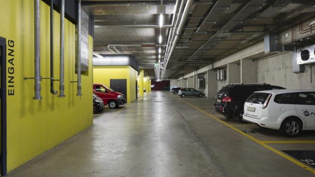 Parkplätze in Tiefgarage sind teuer.