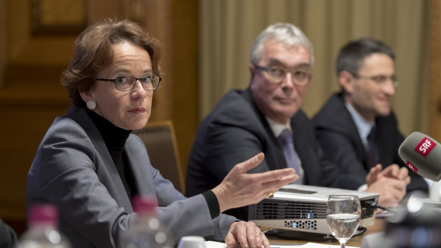 Eva Herzog, Christoph Brutschin, Lukas Engelberger (v.l.n.r.)