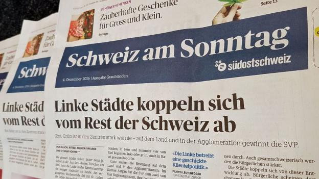 Die Zeitung «Schweiz am Sonntag»