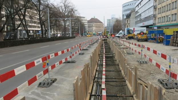 Baustelle sorgt für Verkehrschaos in Basel