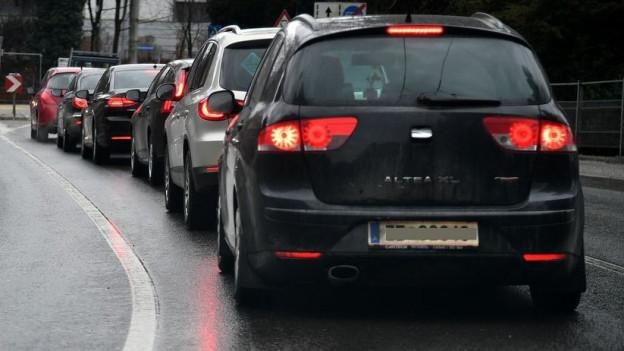 In Basel stockt der Verkehr vor allem am Abend