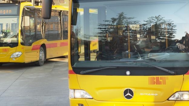 Front eines gelben BLT-Buses