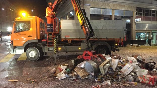 300 Tonnen Abfall sind an den drei Tagen zusammen gekommen
