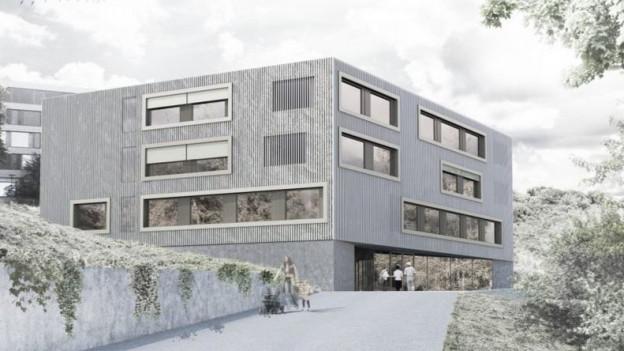 Visualisierung des Neubauprojekts