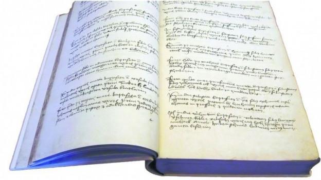 Blick in den Nachdruck eines Basler Taufbuchs