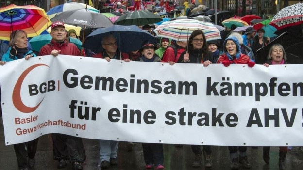 Demonstration am 1. Mai 2016.
