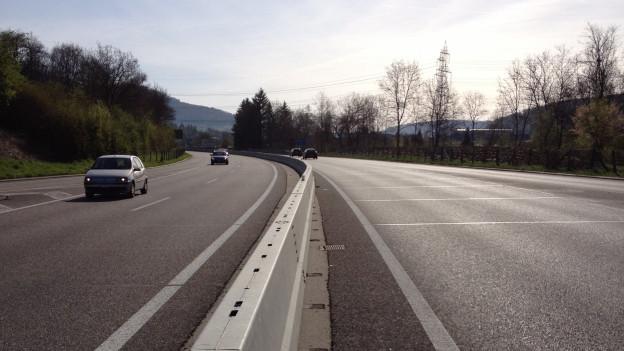 Eine der Strassen, die vom Bund übernommen wird, ist die A22 bei Sissach.