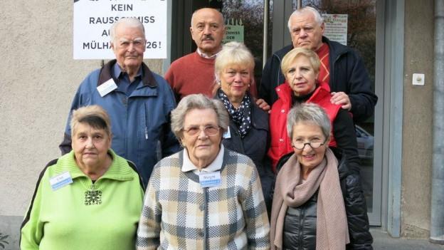 Mieter an der Mülhauserstrasse kämpften dafür, dass sie in Wohnungen bleiben dürfen.