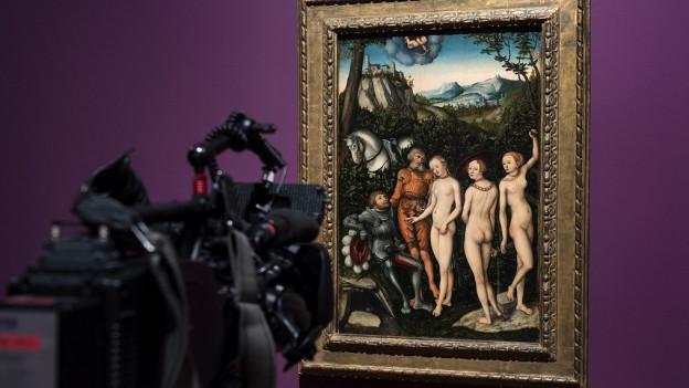 «Das Urteil des Paris» (1528) des deutschen Malers Lucas Cranach der Aeltere.