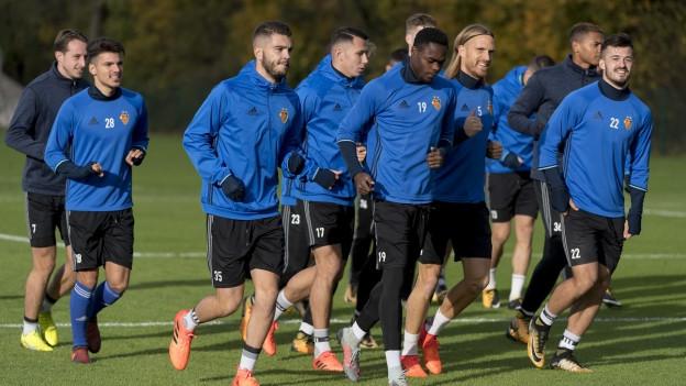 Der FCB trainiert vor dem wichtigen Match
