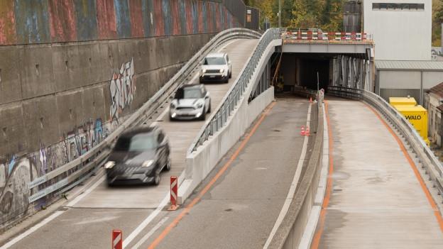 Kein zusätzlicher Stau: Die Massnahmen beim Schänzli-Tunnel funktionieren.