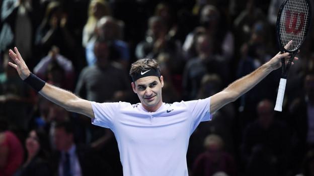 Roger Federer darf jubeln.