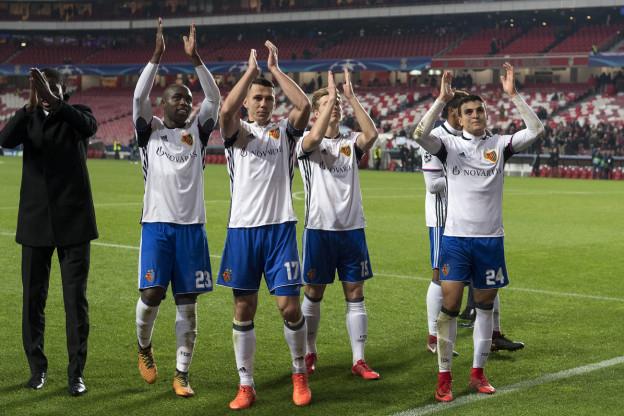 FCB Spieler jubeln nach dem Match