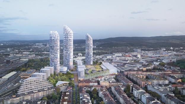 Geht es nach Herzog & de Meuron, könnte das neue Quartier in etwa so aussehen.
