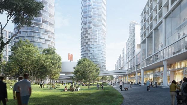 So könnte die Nordspitze des Dreispitz-Areals in Zukunft aussehen.