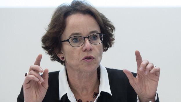 Eva Herzog redend