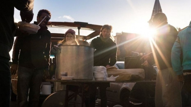 Kochen für Flüchtlinge