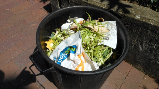 Plastik im Grünabfall kann nicht verwertet werden.