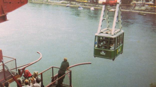 Bereits 1992 gab es eine Seilbahn über den Rhein.