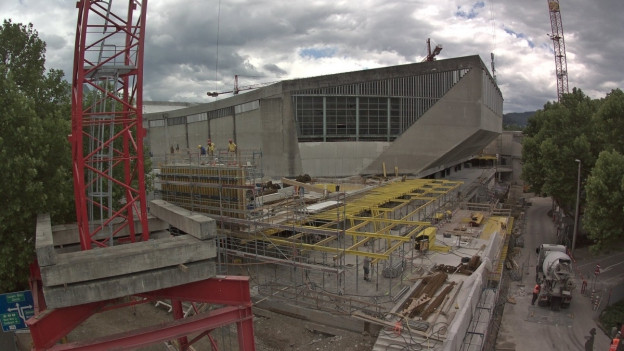 Die Bauarbeiten beim St. Jakob sind in vollem Gang.