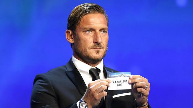 Francesco Totti an der CL-Auslosung