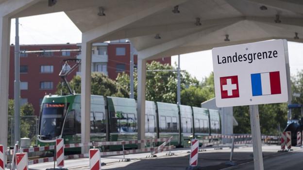 Das 3er-Tram fährt im Dezember über die Grenze nach Frankreich.