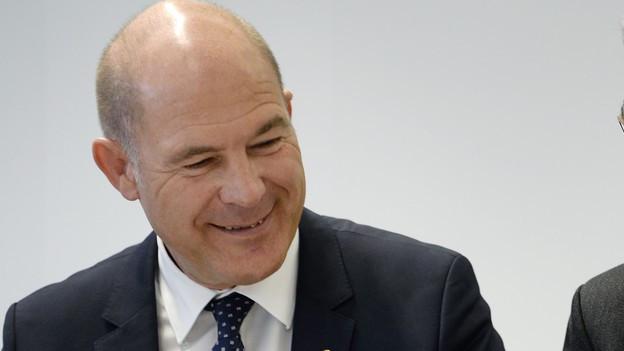 Finanzdirektor Anton Lauber hat gut Lachen