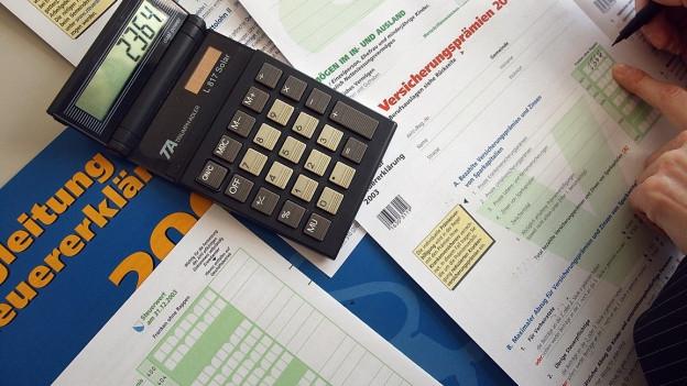 Ausfüllen einer Steuererklärung