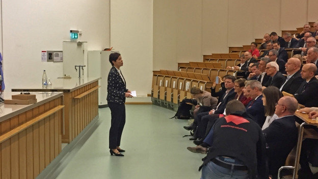Monika Gschwind vor der Baselbieter FDP