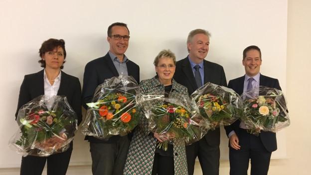 Gewählt: Christine Kaufmann, Daniel Hettich, Silvia Schweizer, Hansjörg Wilde und Daniel Albietz.