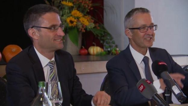 Die Gesundheitsdirektoren Thomas Weber und Lukas Engelberger wollen die Spitäler der Region fusionieren
