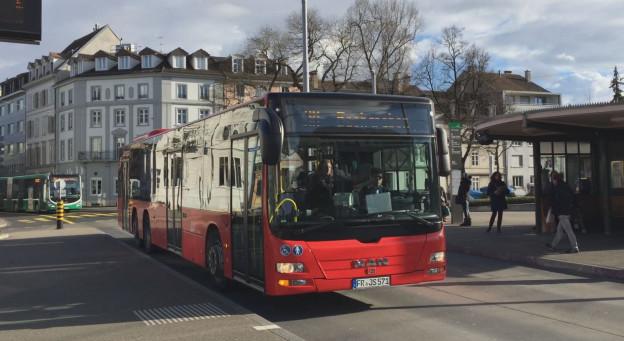Ein Südbadenbus der Deutschen Bahn