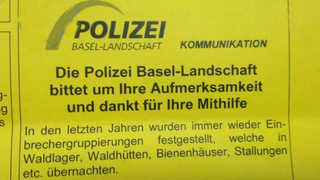 Basteln für Gemeinde-Angestellte: Falsche Polizeimitteilung