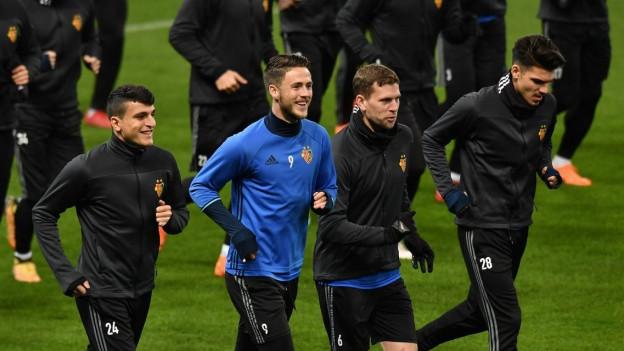 Der FC Basel trainiert im Etihad Stadium in Manchester