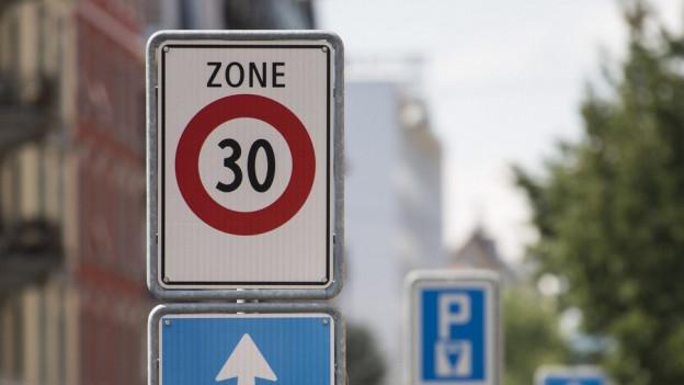 Schild für Tempo 30