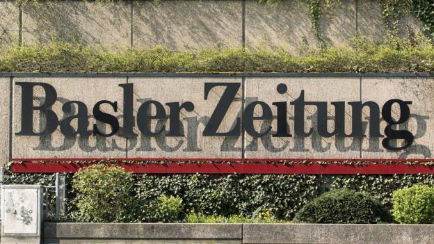 Schriftzug der Basler Zeitung