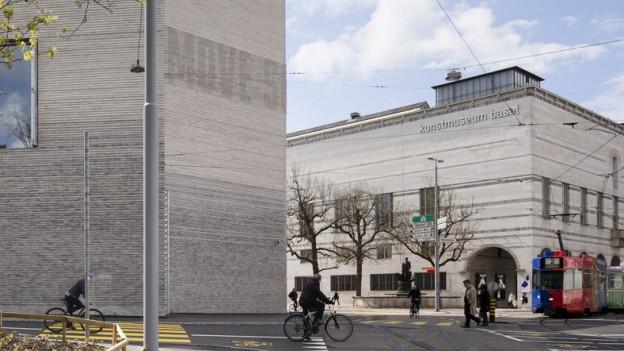 Blick auf das Basler Kunstmuseum