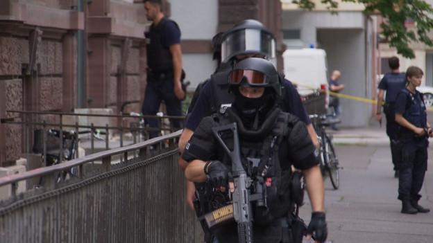Grosseinsatz der Polizei