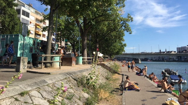 Der Rhein hat sich in den letzten Jahren zu einem beliebten Treffpunkt entwickelt