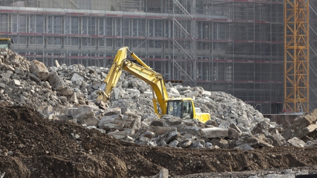 Die Hälfte des Bauschutts könnte in Zukunft rezikliert werden.