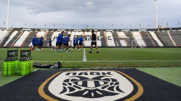 Am Montag trainierte der FC Basel im Stadion von Saloniki