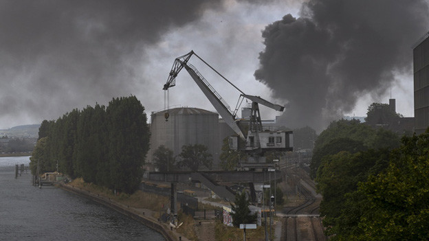 Grossbrand im Basler Rheinhafen