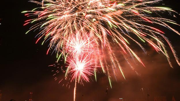 Das grosse Feuerwerk am Rhein
