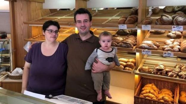 Die Dorfbäckerei in Hölstein mit der Besitzerfamilie Köhler ist die einzige Bäckerei im Waldenburgertal.